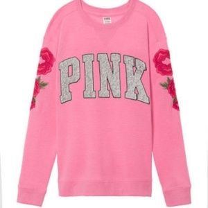 VS PINK Embroidered Crewneck Sweatshirt XS